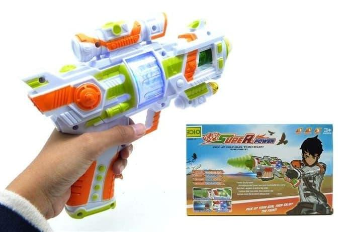 SUPER POWER GUN LASER LIGHT SOUND AK808-1F SJ0078