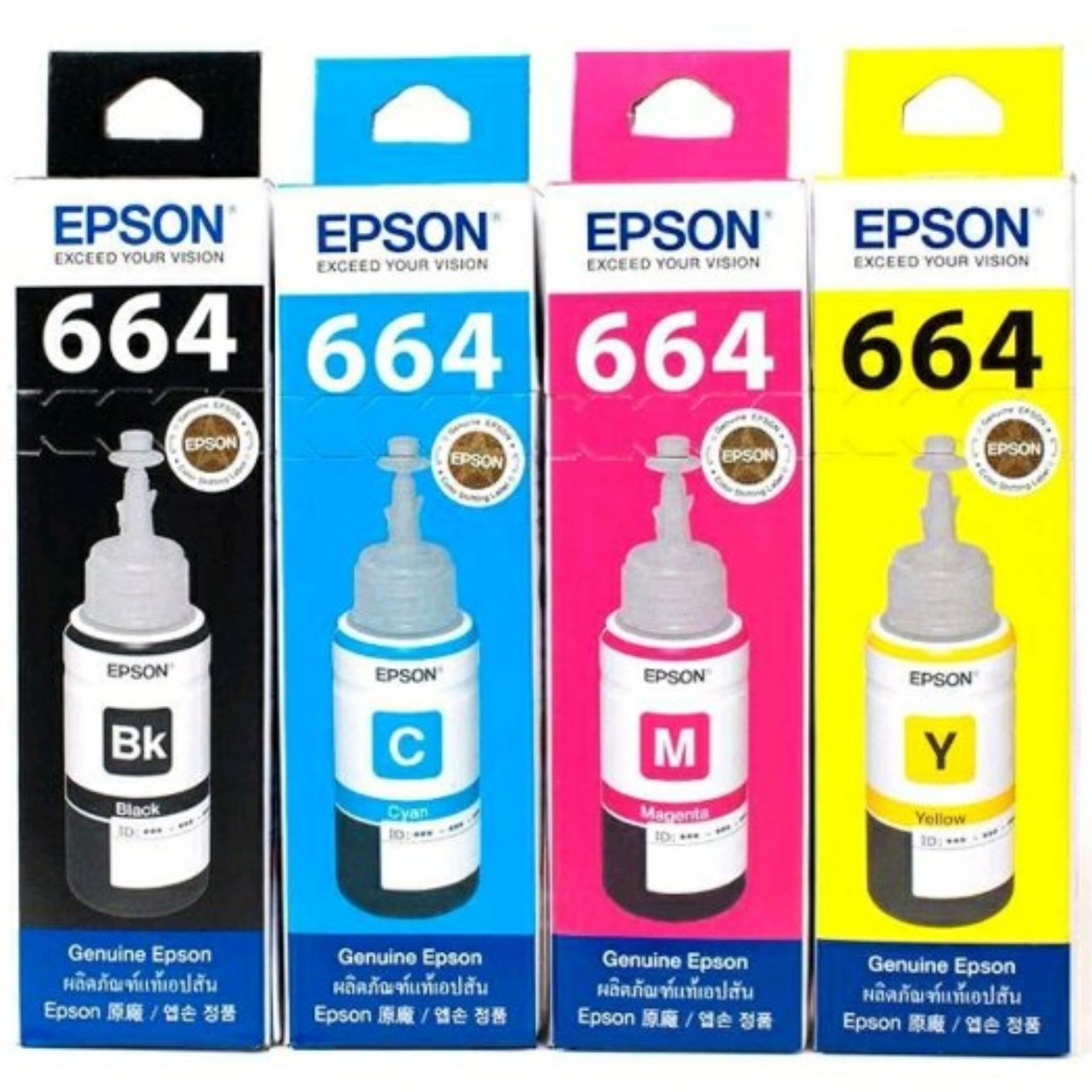 1 Paket 4 Warna Tinta Printer Epson  L355 L350 L360 L365 L455 L550 L555 L565