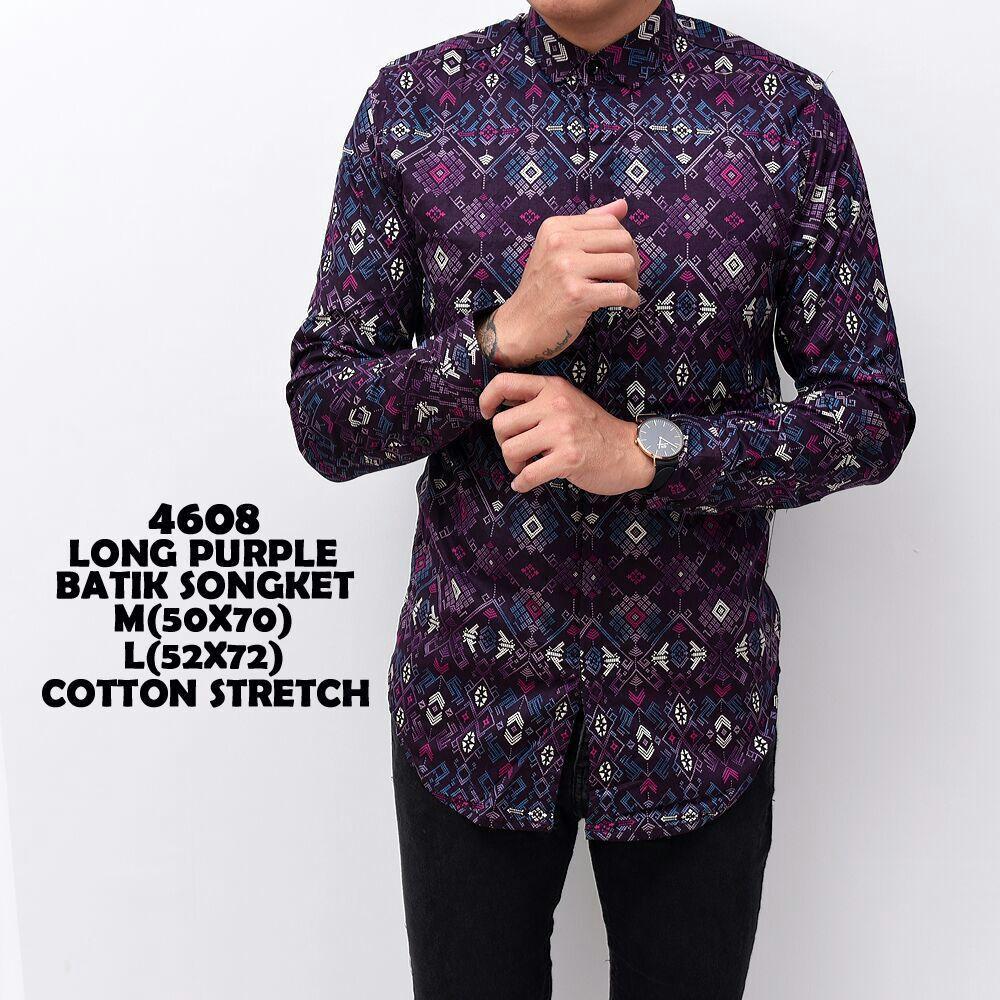 the most Kemeja Panjang Batik Songket Kerja KOndangan Pria casual Warna Hitam Hijau Navy Formal atasan cowok fashion terbaru termurah terlaris beli baju kaos oblong distro bandung
