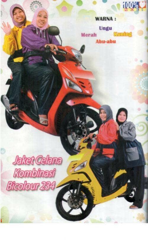 Jas Hujan Jaket Celana Bicolour 234 R Elephant Brand