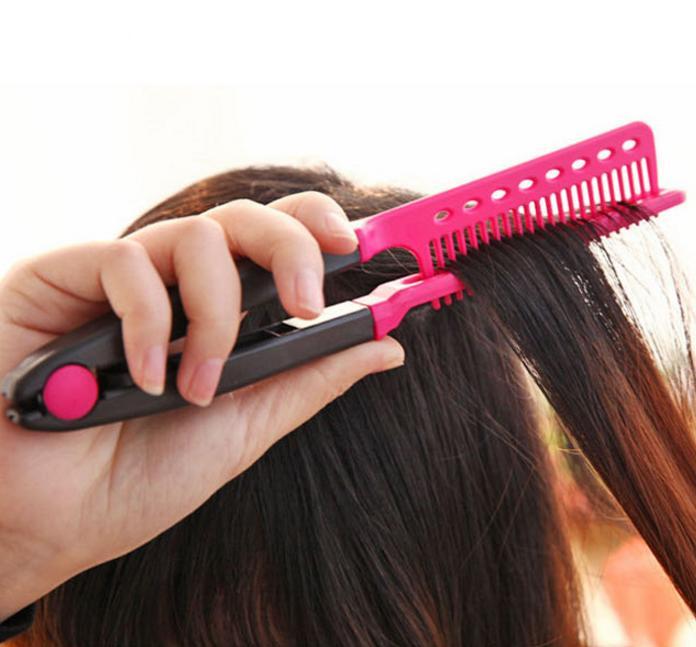 Sisir Ion V / Hair Straightener V Comb - Sisir Pelurus Rambut Tanpa Panas Tanpa Listrik Aman By Healthy Life.