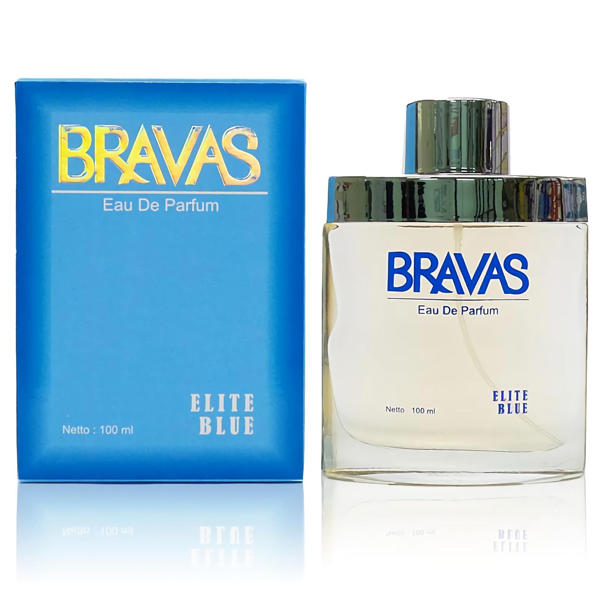 BRAVAS Original Elite Perfume XX-CT-671115 Eau De Parfum 100 ML - Biru