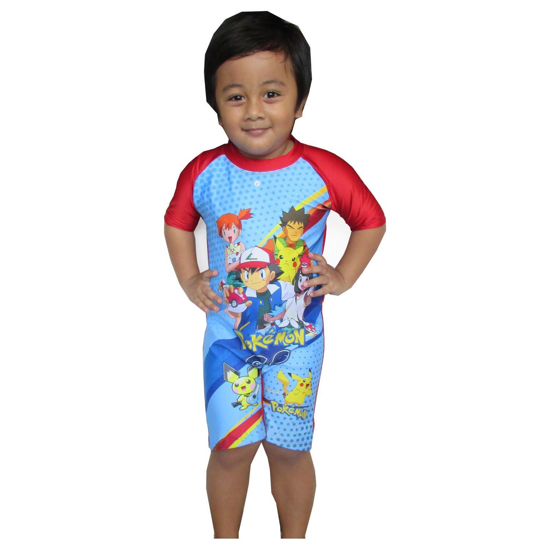 Baju Renang Anak Karakter Pokemon 3-7 Tahun