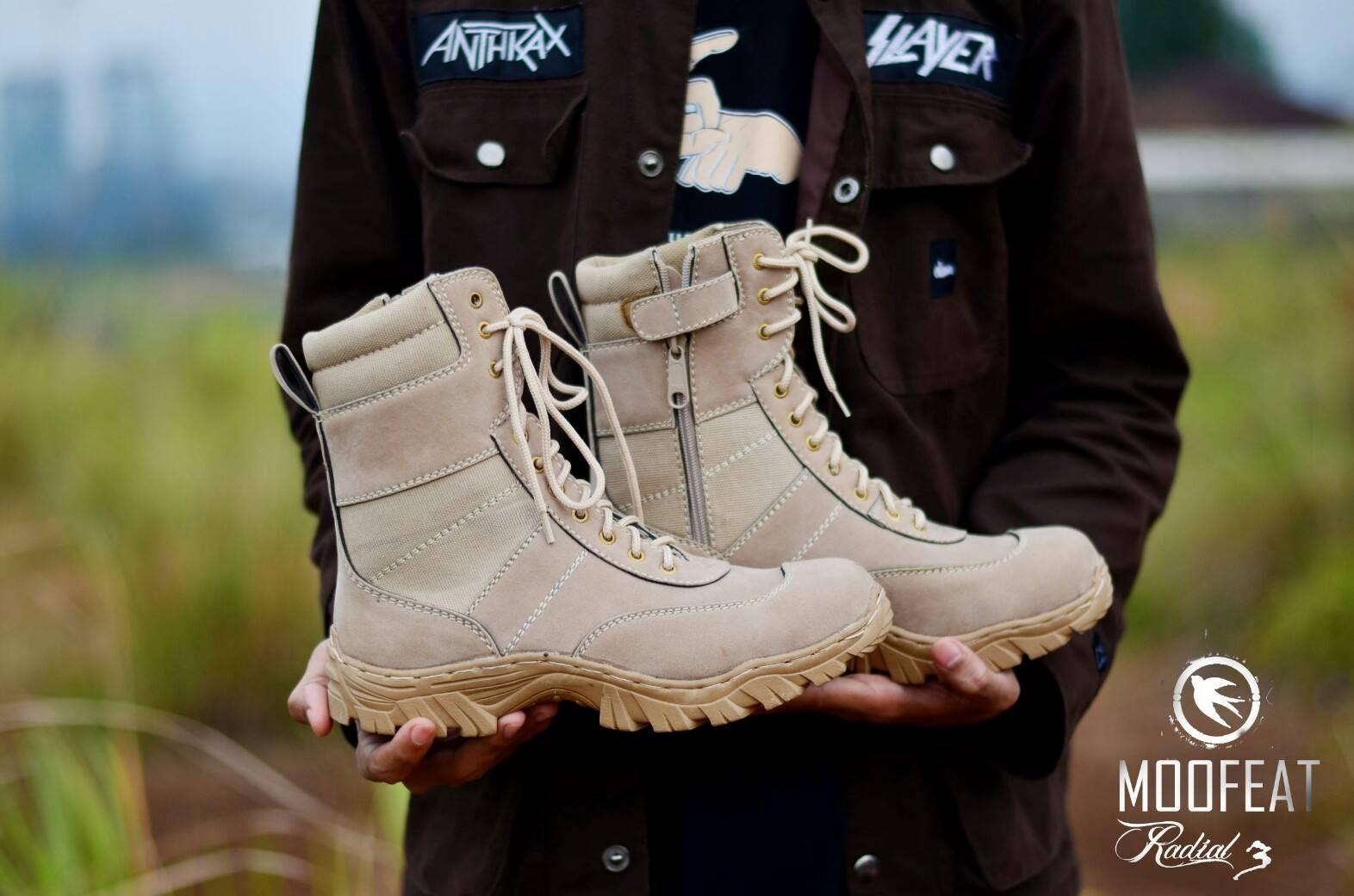 MOOFEAT - Sepatu Boots Pria Gunung Outdoor Safety Delta Everest / Sepatu PDL / Sepatu Tentara