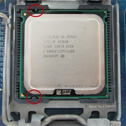 Xeon E5462 2.8 กิกะเฮิร์ตซ์ 12 เมตร 1600 เมกะเฮิร์ตซ์ Cpu เสมอกัน Core 2 Quad Q9550 Cpu Works บน Lga775 Mainboard.