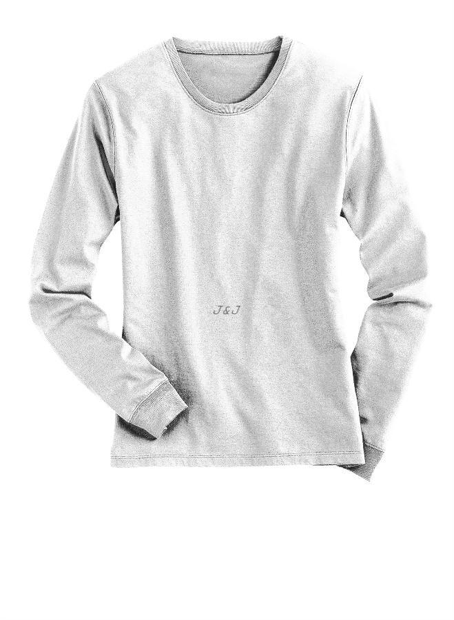Jual Kaos Polos Lengan Panjang Katun Putih XL - 4XL Big Size Jumbo