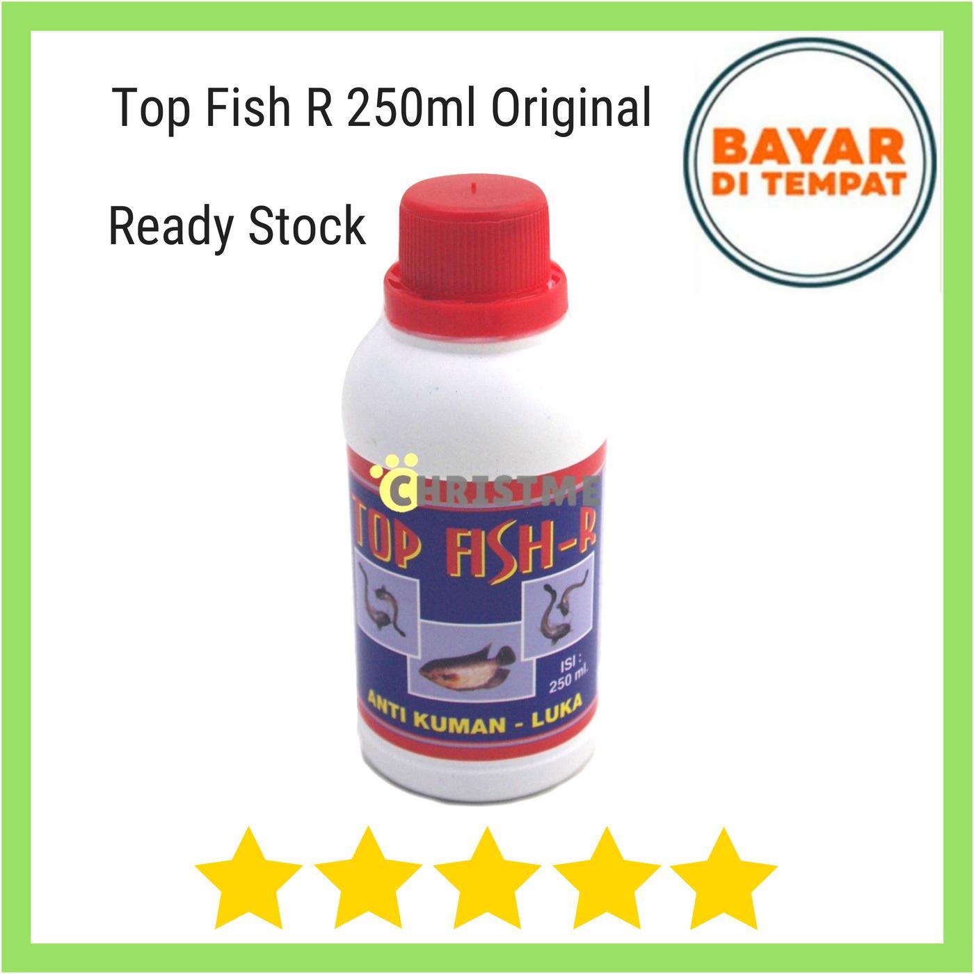 Top Fish Red 250Ml - Obat Anti Bakteri Kuman Luka Pada Ikan Mas Gurami Lele Udang Nila Patin Mujahir Bandeng Belut dll