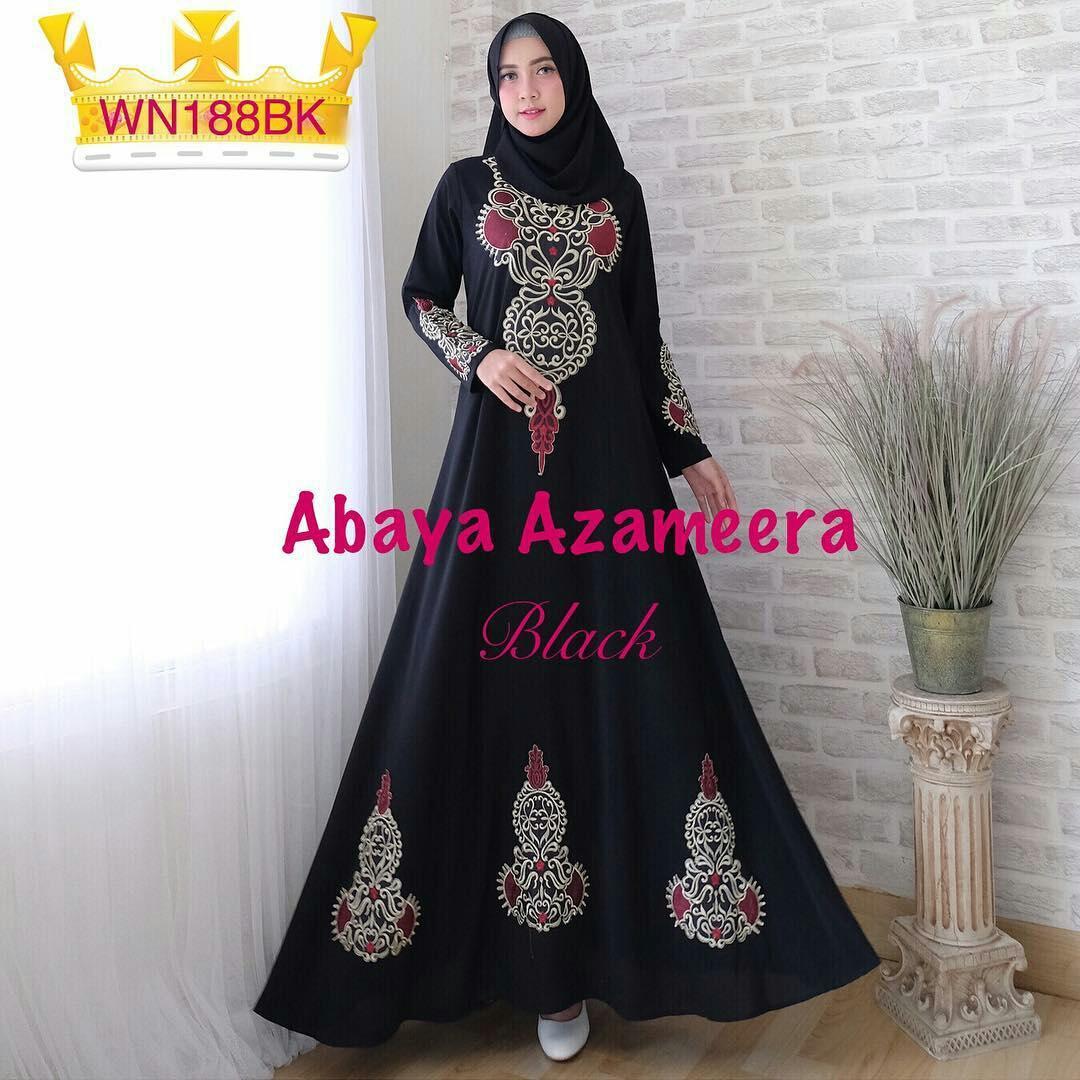 Baju Muslim Gamis Abaya Black