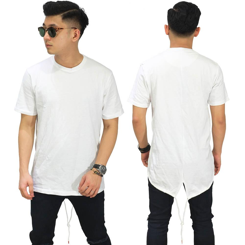 Frozenshop.com - Longline T-Shirt Fishtail - Kaos Longline Pria