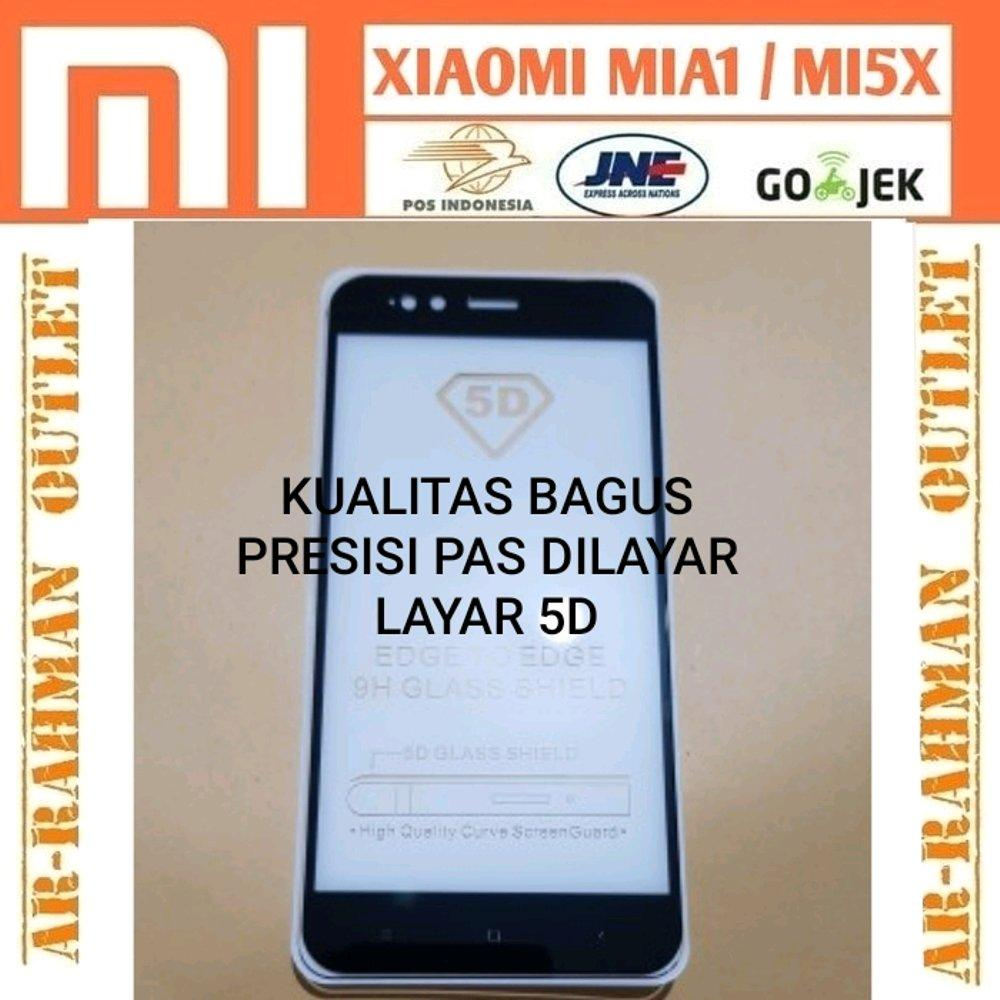 Tempered glass 5D xiaomi mia1 mi a1 android one mi5x mi 5x anti gores kaca Full layar Hp temperedglass warna color Screen guard Protector 9H curved di lapak ARRAHMAN OUTLET raihanalbatawi
