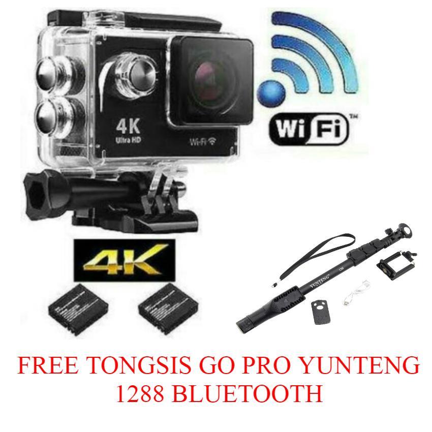 Kogan 4K+ UltraHD DV Action Camera Water Resistant 30m - [16.0 MP/WIFI] Free Tongsis Go Pro Yunteng Bluetooth 1288
