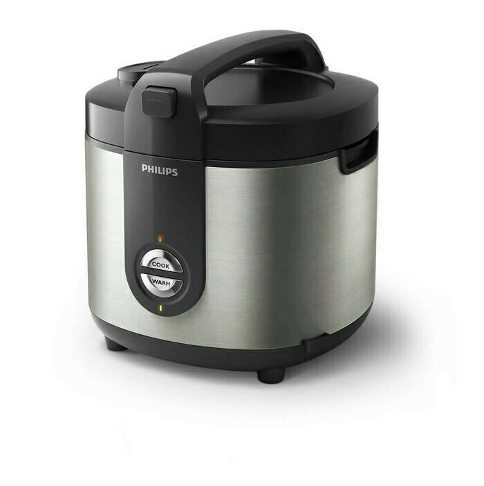 PROMO Philips Rice Cooker HD 3128 / HD3128 - 2 liter- Stainles TERLARIS