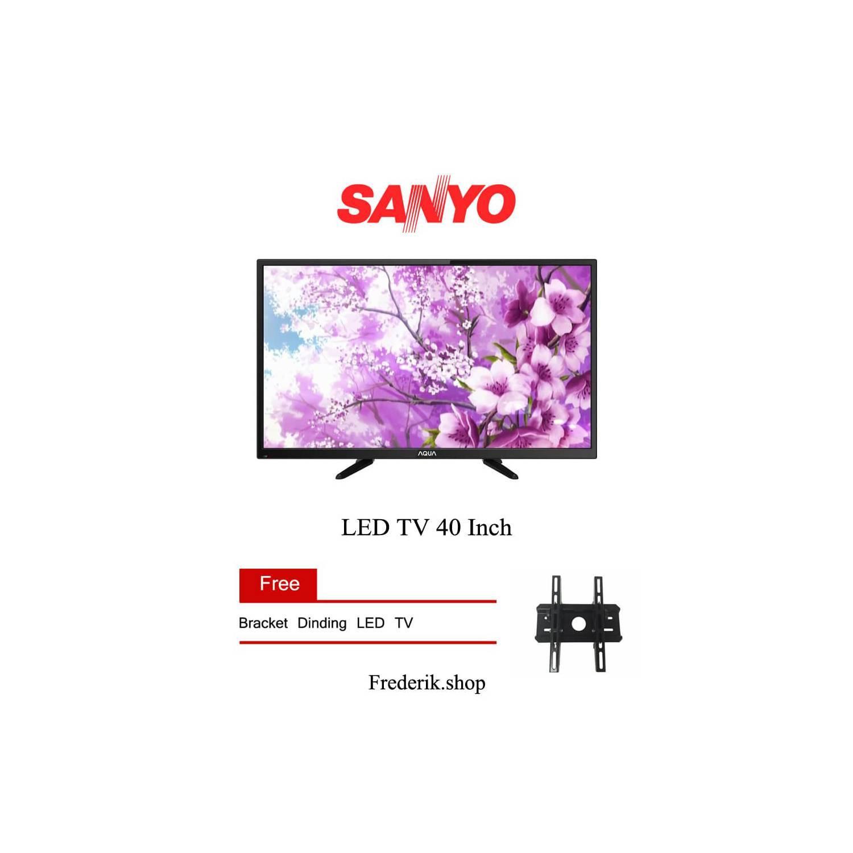Bracket + Sanyo Aqua LED TV 32AQT1000 HDMI USB movie ready VGA pc