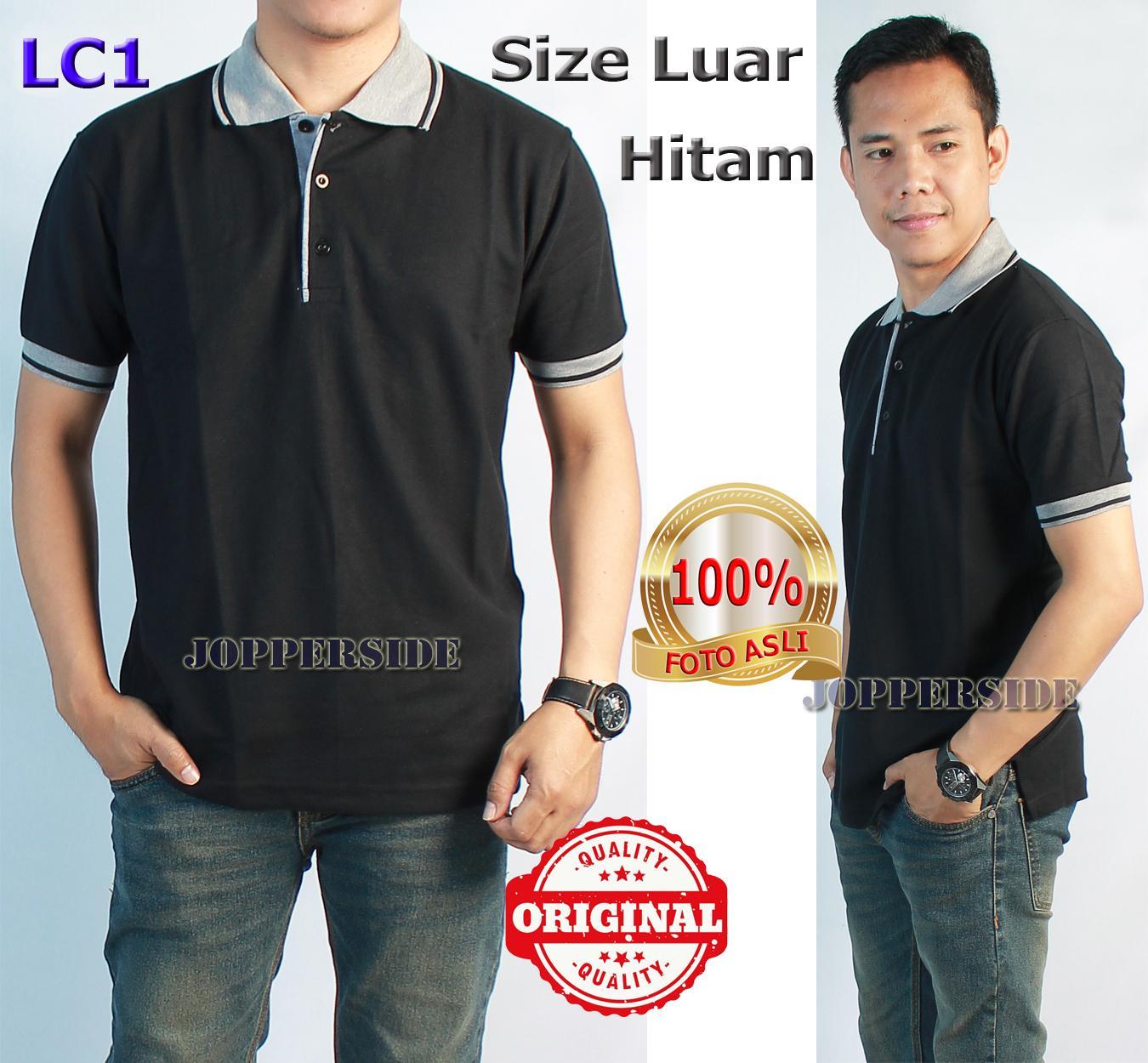 Kelebihan Best Seller Baju Kaos Wangki Polo Shirt Polos Cowok Kerah Kombinasi Jopperside Original Pria Hitam Black Lc1