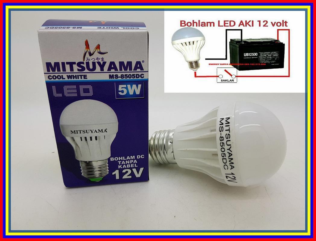 Merk Mitsuyama 5W E27 Lampu Led 12V Dc Led Lampu Solar Cell