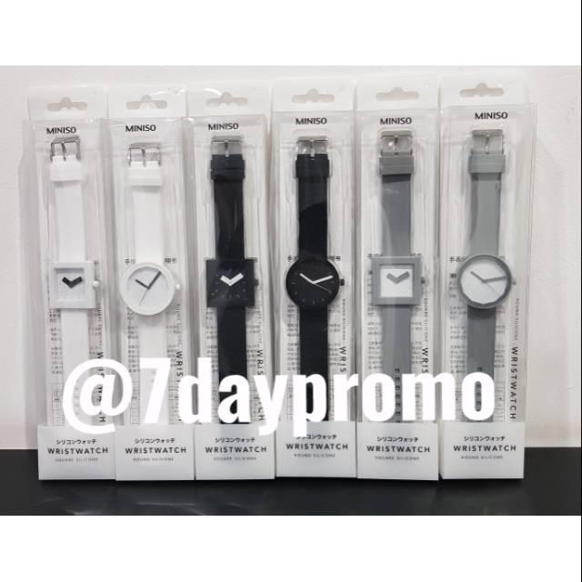 Jam tangan silicone Miniso