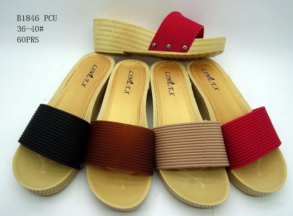 Rp 30.600. Sandal Jelly Wanita Paku Tiga-Sandal Wedges Wanita Dikirim Random IDR30600