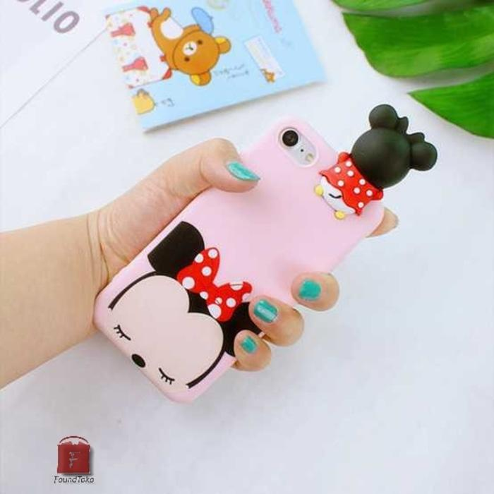 Casing 3D Cartoon Disney Tsum Tsum For Iphone 7/8 Minnie Mouse