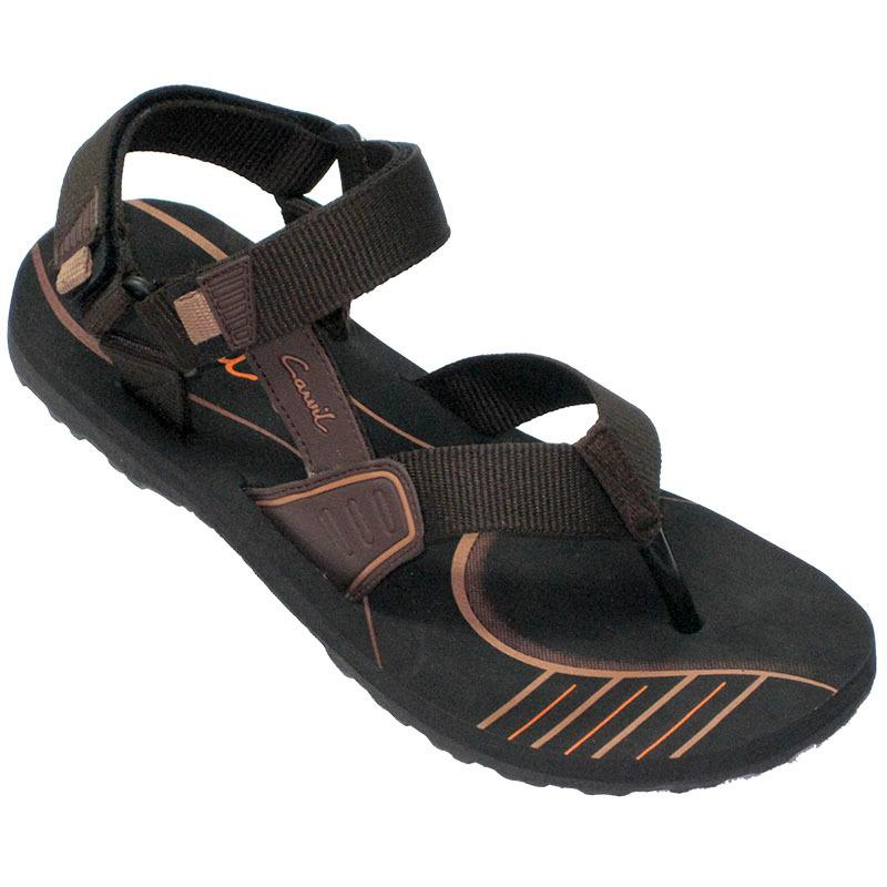 CARVIL - MAN SANDAL GUNUNG EMERSON-GM BLACK-BROWN