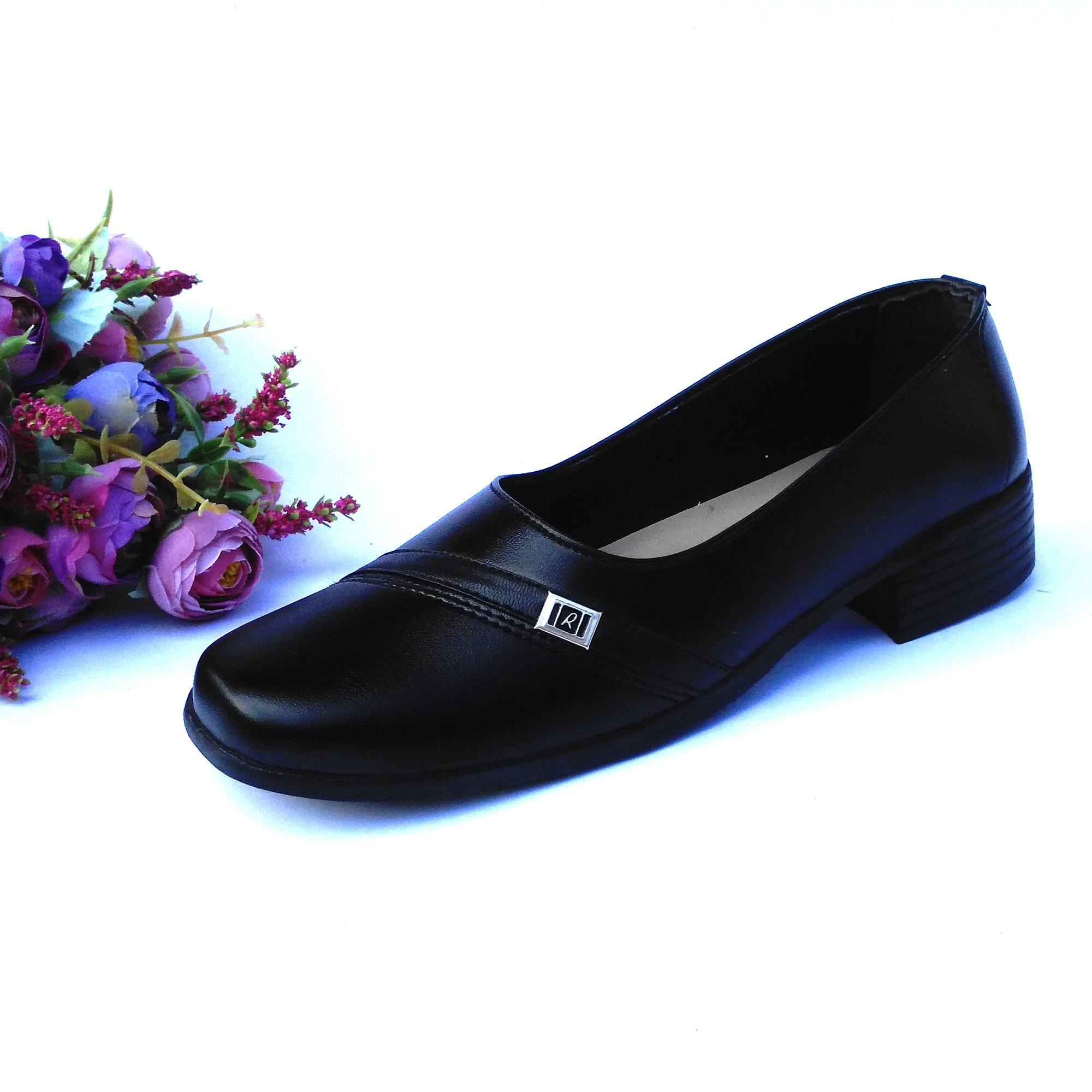 HQo Sepatu Pantofel Wanita Sepatu Wanita Formal Sepatu Pantofel Paskibra Wanita Bertali Sepatu