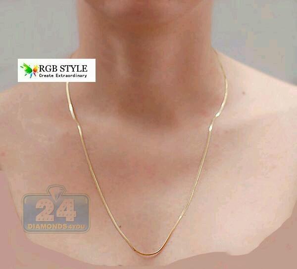 Kalung Titanium 316L Pria Wanita Panjang Tipis Gold Emas Asli Original