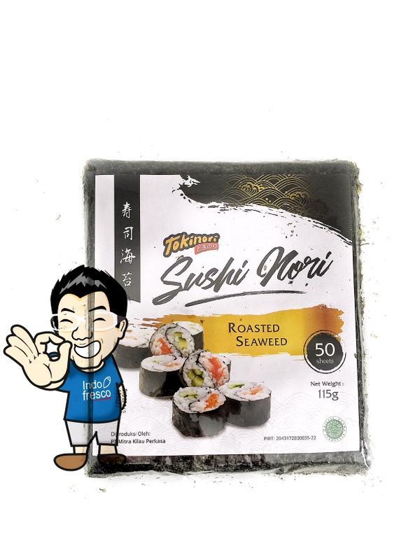 Tokinori Yaki Sushi Nori- Roasted Seaweed- Rumput Laut 50pc