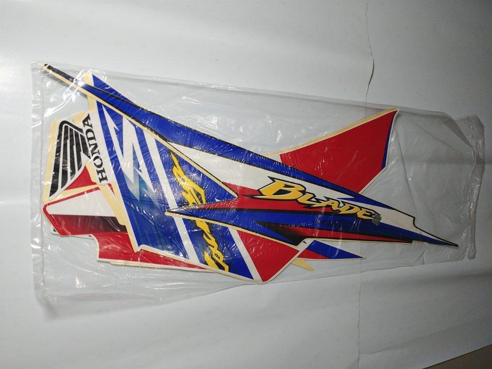 Stiker Bodi & Lis Body & Striping Blade 2011 2012 Putih Biru