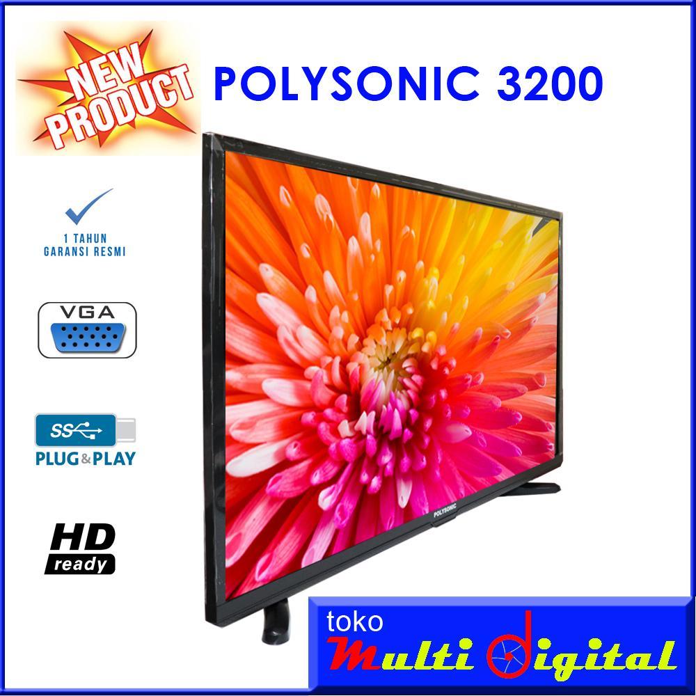 Detail Gambar POLYSONIC LED TV 32 Inch - 3200 NEW PRODUK Terbaru