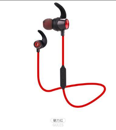 Baru S18 Subwoofer Stereo Bluetooth Headset Binaural Nirkabel 4.2 Dalam-Telinga Olahraga Bluetooth Headset-