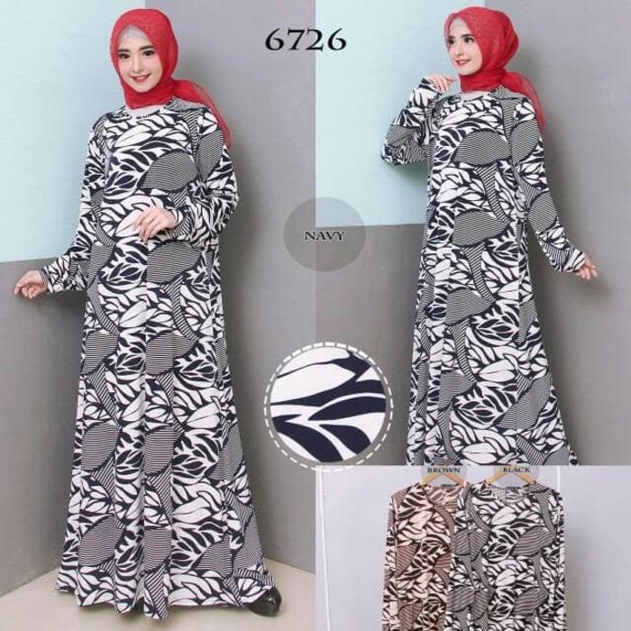 Kenzmal- Maxi Gamis Dress Baju Muslim Wanita Baju Gamis Wanita Gamis Jumbo Xxl Bahan Jersey Korea 6726