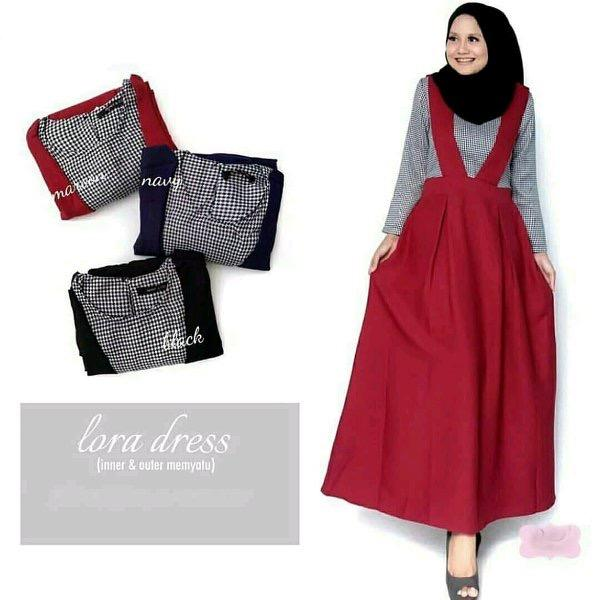 Lora Dress ( inner + Outer Menyatu)