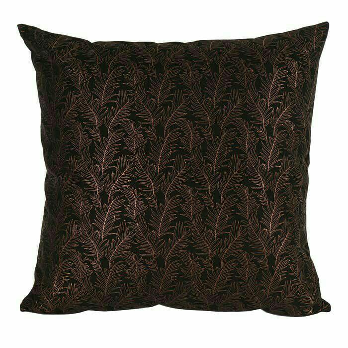 Best Seller - Curated Home Cushion Cover Sarung Bantal Sofa 45 × 45cm Bronze Leaf - Sarung Bantal Sofa Terbaru