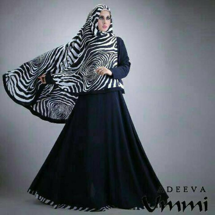 (JNH Shop)  Diva Syari Busana Muslim Remaja Wanita Gamis Hijab Lebaran Deeva Murah