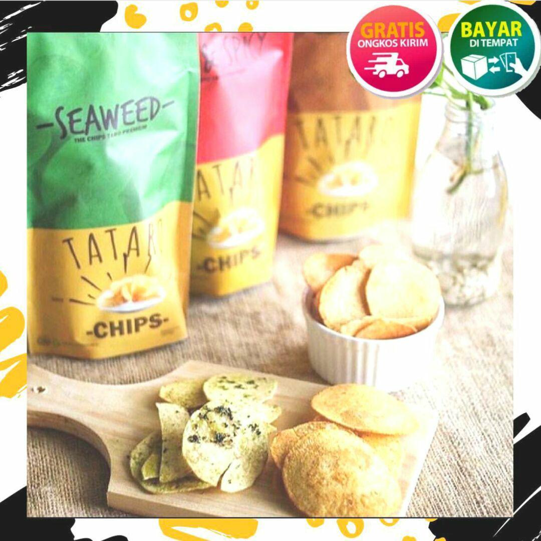 Cek Harga Baru Keripik Talas Premium Rasa Rumput Laut Barbeque Pedas Bumbu Tabur 3