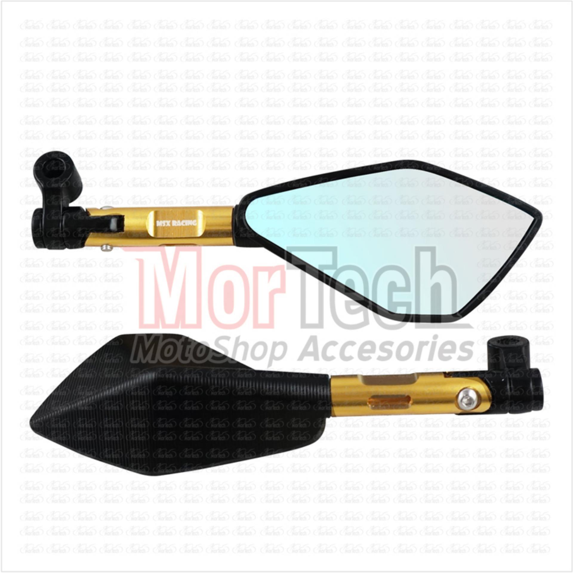 MSX Kaca Spion Sepion Vixion Fairing Tomok Jumbo CNC - Gold