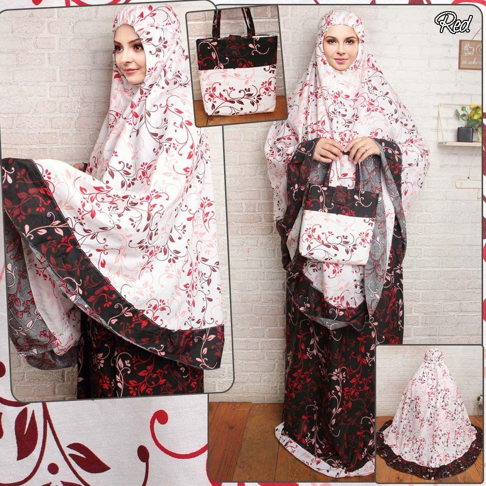 mukena dewasa katun jepang mukena hijab muslimah motif bunga