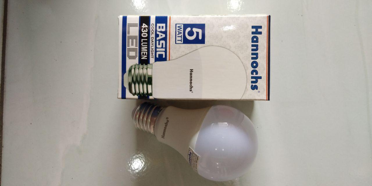 Lampu Led Basic Hannochs 5 Watt Terang Bergaransi