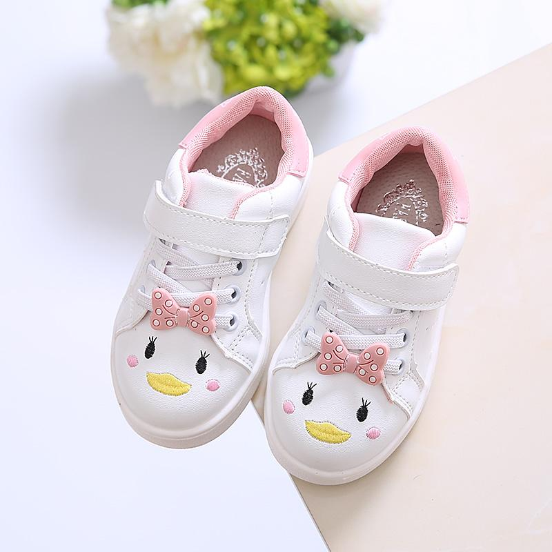 9ade49e5f Girls Athletic Shoes 2019 Spring New Style Children Soft Bottom Cartoon Fashion  Sneakers Little Girl Casual