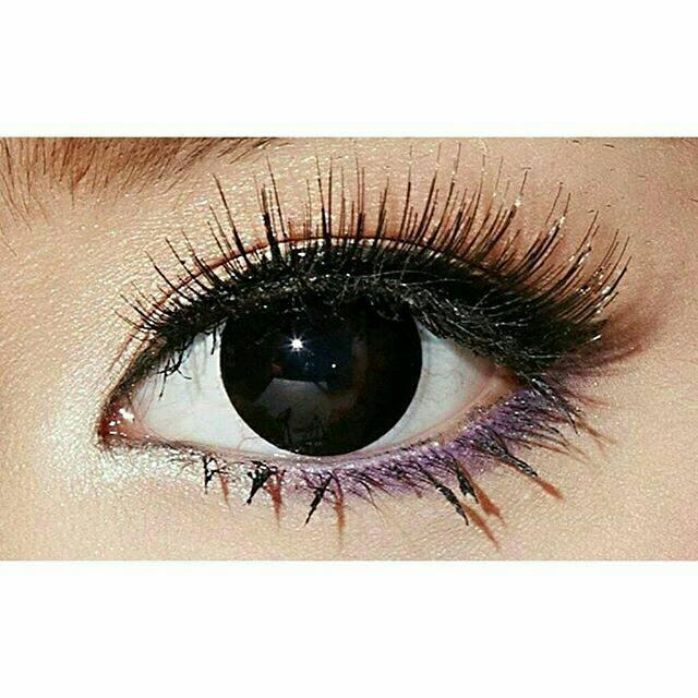 Softlens Big Eyes Hitam/Black Pekat True Color Wish