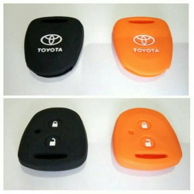 Cover Silikon Karet Rubber Sarung Penutup Silicon Kunci Remot Toyota Grand New Avanza Dua Tombol