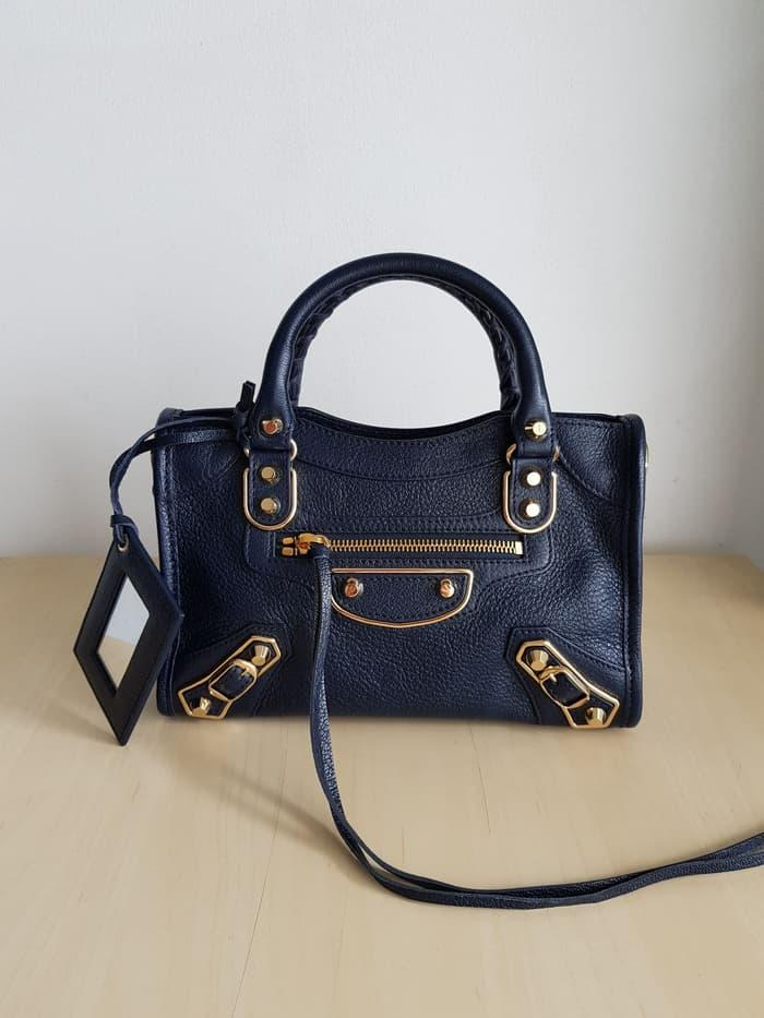 Balenciaga mini city edge blue nuit ghw  - KpdzVG