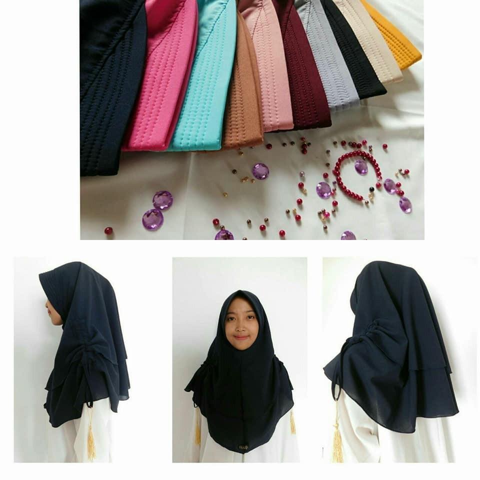 Harga Hijab Khimar Aisyah Serut Dan Spesifikasinya Terlaris Di Jilbab Instan Kerudung Rubiah Daily Kcb