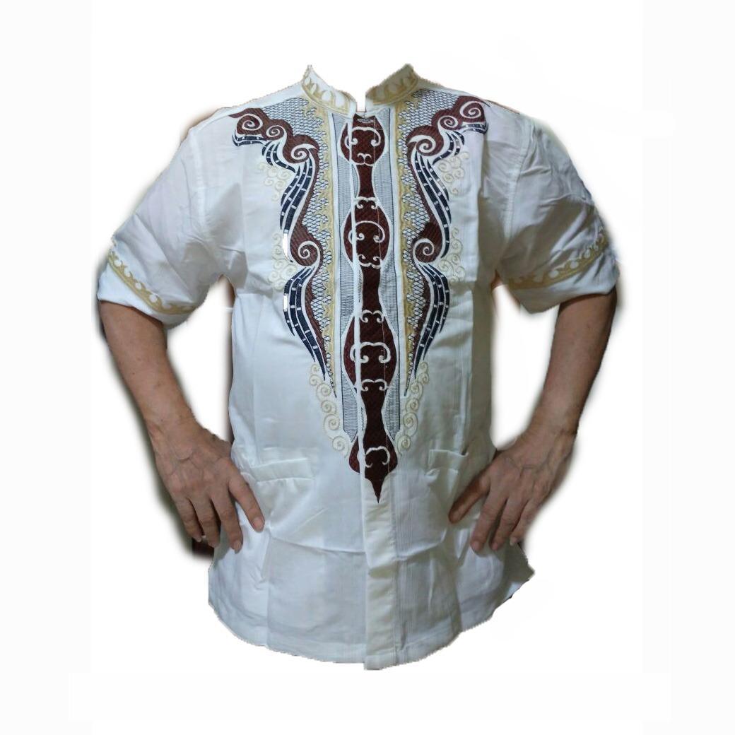 Baju Koko / Kemeja Muslim / Busana Muslim / Atasan Muslim Pria / Baju Pria Lengan Pendek / Baju Warna Putih / Baju Merk Benhill Original - Toko Sumber Rejeki Jeans