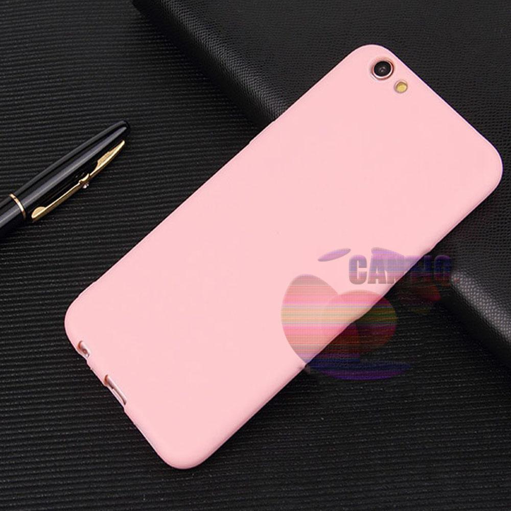 Lize Jelly Case Oppo A83 Candy Rubber Skin Soft Back Case / Softshell / Silicone Oppo A83 / Jelly Case / Ultrathin Oppo A83 / Case Lize Huawei / Casing Hp / Baby Skin Case - Pink / Pink Muda