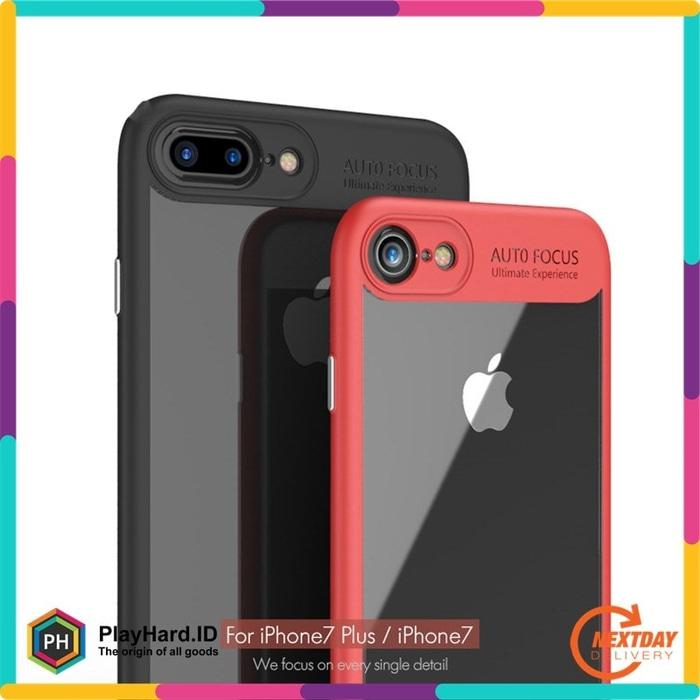 Transparent Full Protective Hardcase For Iphone 7 Plus / 8 Plus - Blac