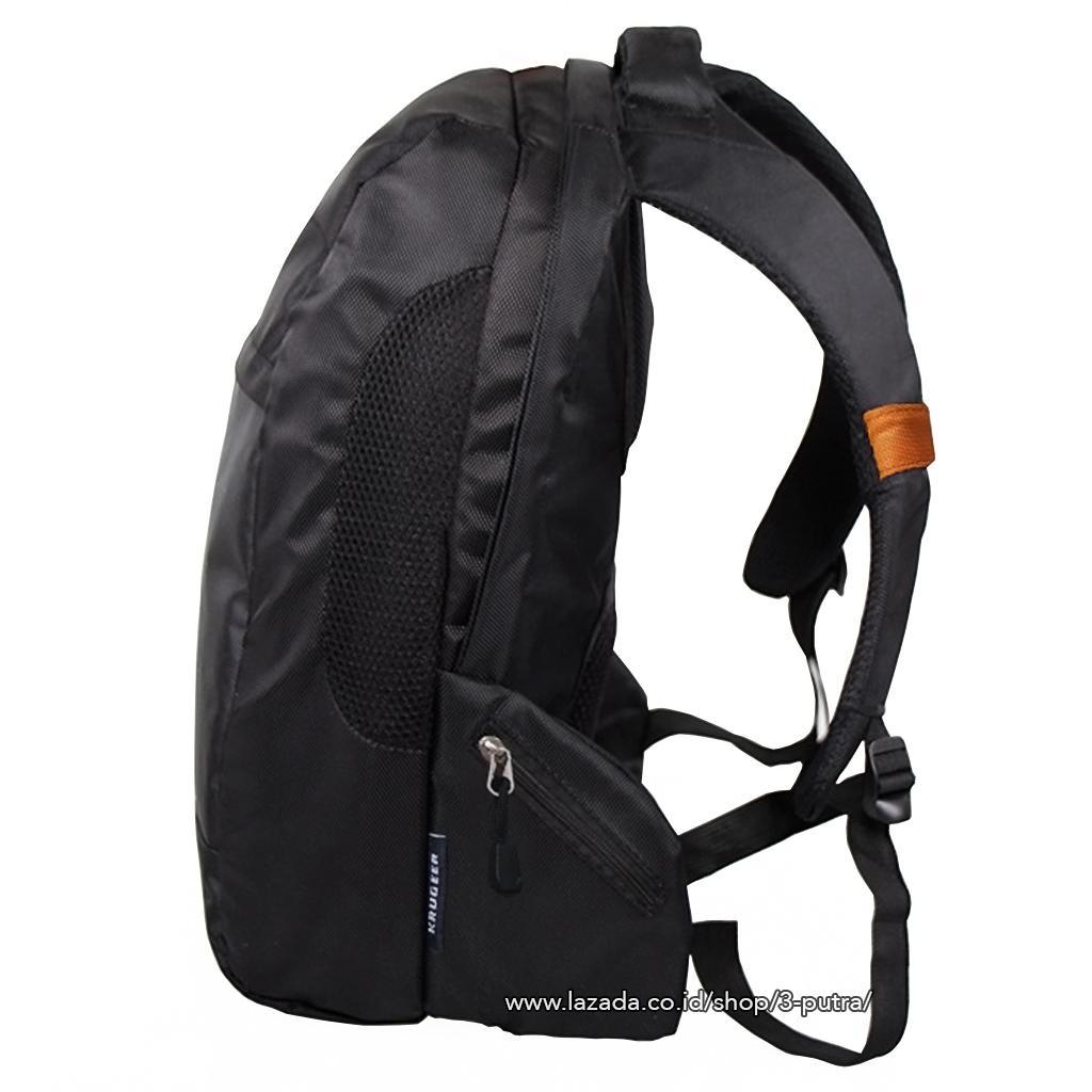 BackPack Tas Ransel Backpack Laptop Ransel Laptop Tas Punggung Ransel Kerja Tas Kerja Backpack Kerja Ransel Sekolah Tas Sekolah - 3P Krugeer Laptop Backpack ( Black )