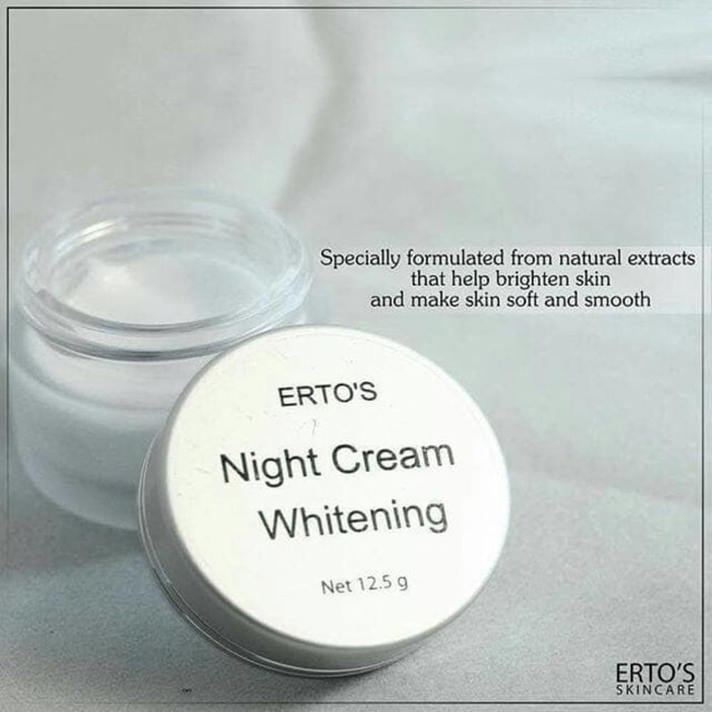 Kelebihan Ertos Paket Original Cc Cream Night Glowing 1 Serum Kinclong Pemutih Wajah Alami Dan
