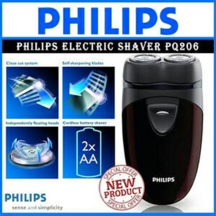 Philips PQ 206 Electric Shaver Alat Cukur Kumis Jenggot - 9HvuWfa