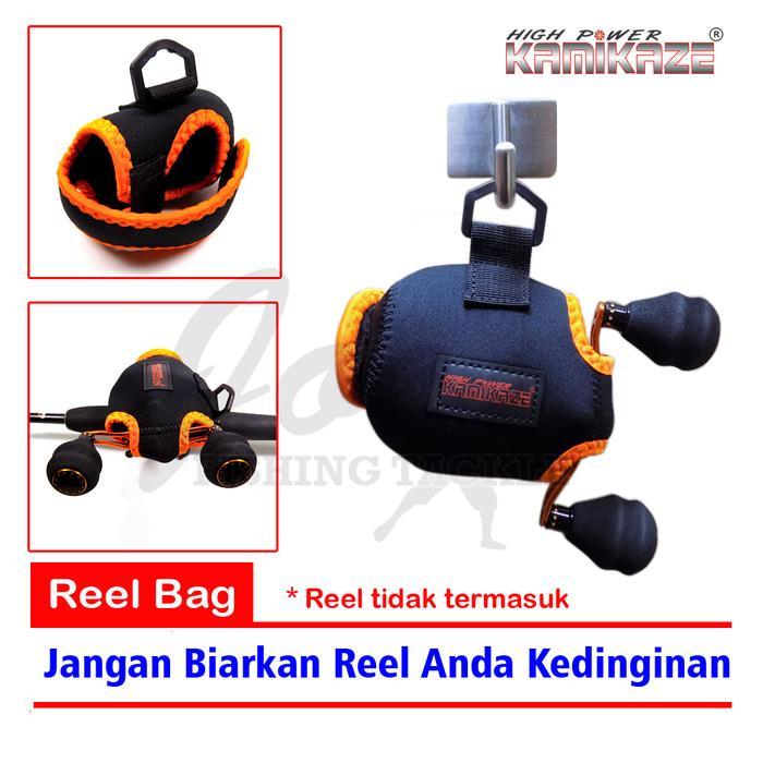 Kamikaze BC Reel Cover Jugy 102 - Tas Reel Pancing Bait Cast Reel Bag - Q3jnba