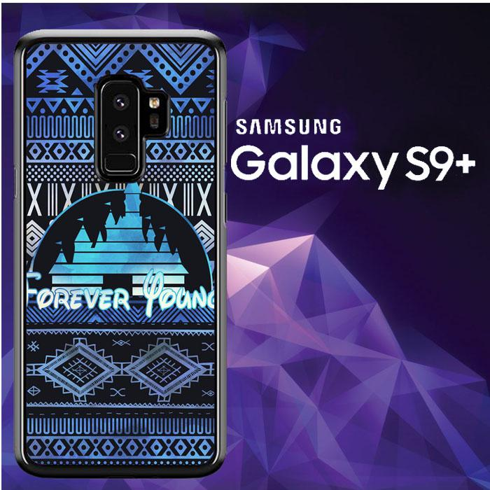 Casing Samsung Galaxy S9 Plus Custom Hardcase Forever Young Disney Aztec Pattern Design Z5414 Case Cover